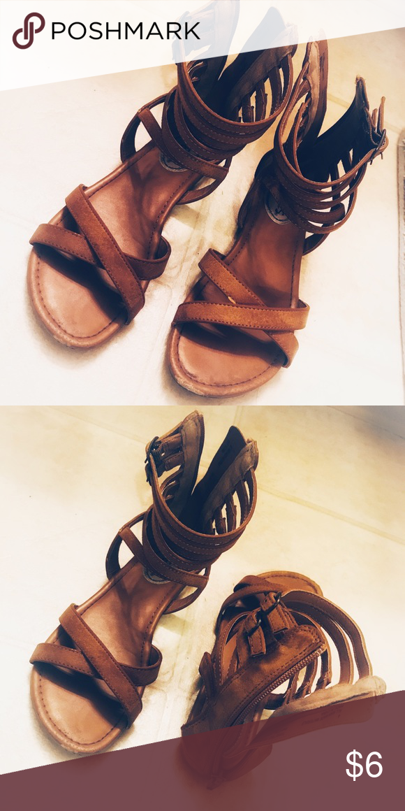 8b1a15b499f7 Girls gladiator sandals size 4 Target girls gladiator sandals size 4. Worn  3-4 times. Slightly scuffed. Stevies Shoes Sandals   Flip Flops