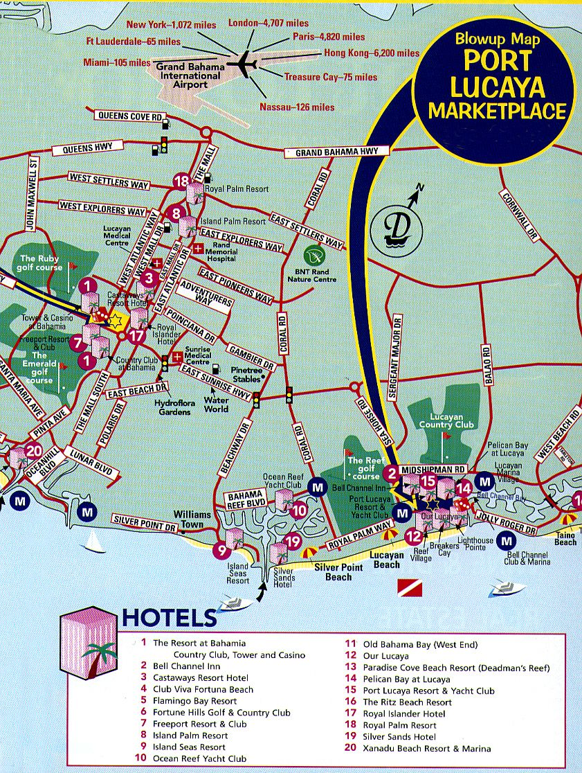 Freeport tourist map freeport bahamas mappery – Nassau Bahamas Tourist Map