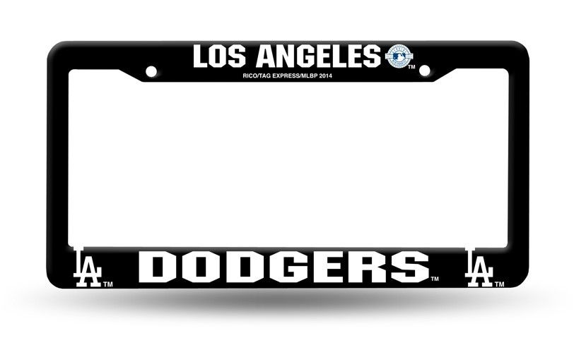 los angeles dodgers black plastic license plate frame new free shipping