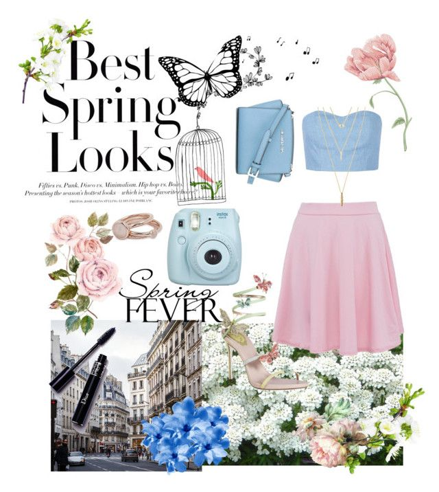 """Untitled #29"" by paigelow on Polyvore featuring H&M, Julien David, Jules Smith, Lola Rose and MICHAEL Michael Kors"