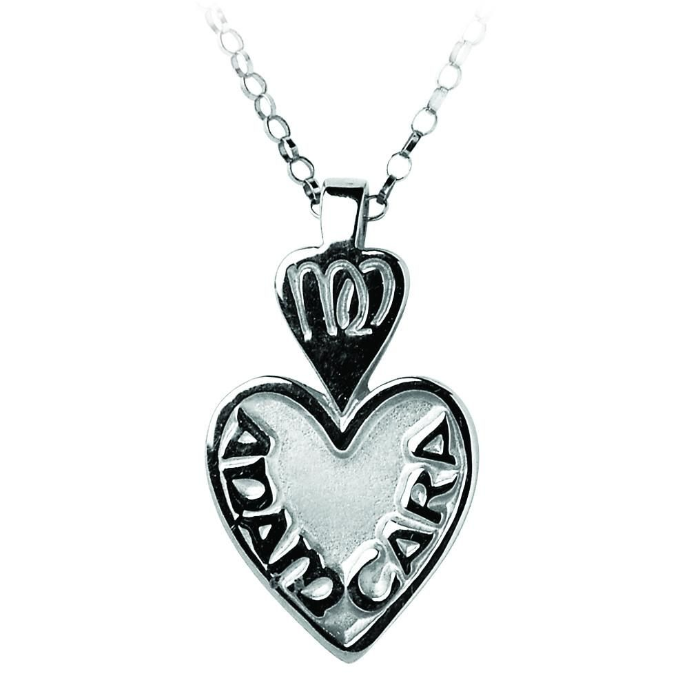 Sterling Silver Mo Anam Cara My Soul Mate Pendant Necklace