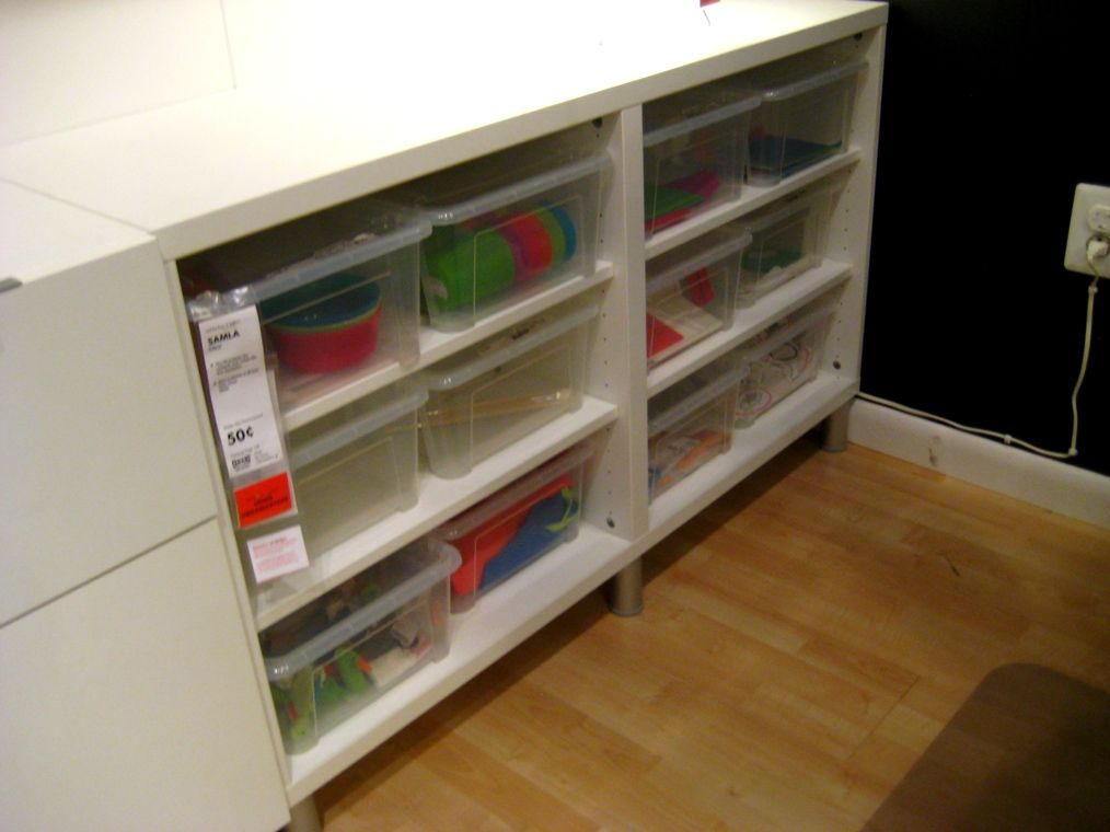 Ikea Base Cabinet Without Doors And Samla Boxes The Unit To The