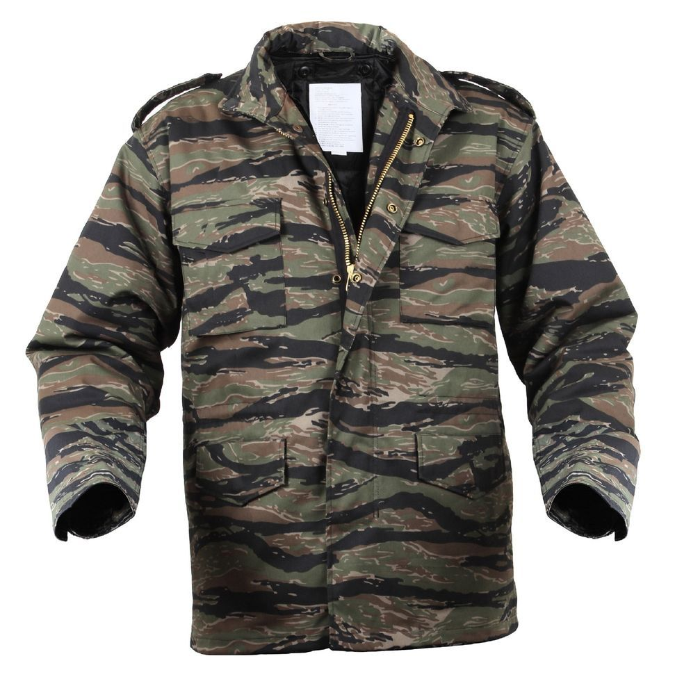 Tiger Stripe Camouflage Military M-65 Field Jacket  88d53267722