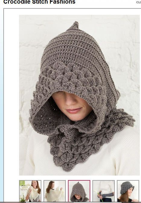 Boho, funky hat with popular crocodile stitch. | Yarn Arts | Pinterest