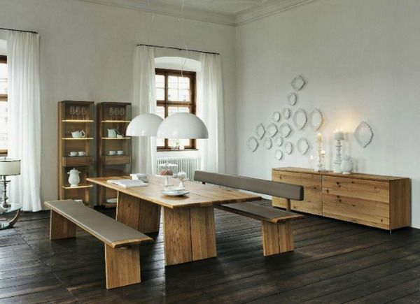 Wooden Dining Room Furniture Style Inside A Modern Interior Design