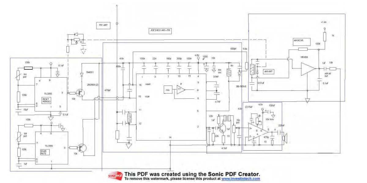 Joe Cioppi's Joe's Box Full Circuit Diagram