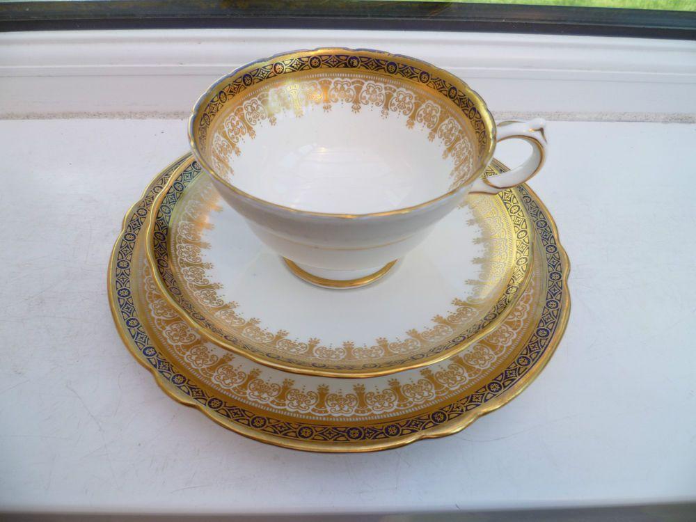 Lovely Vintage China Trio Tea Cup Saucer Plate Copelands Grosvenor 6633
