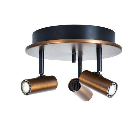 Cato 3 Spotlight Led Oxid 22 5cm Med Bilder Lampor Taklampor Spotlights