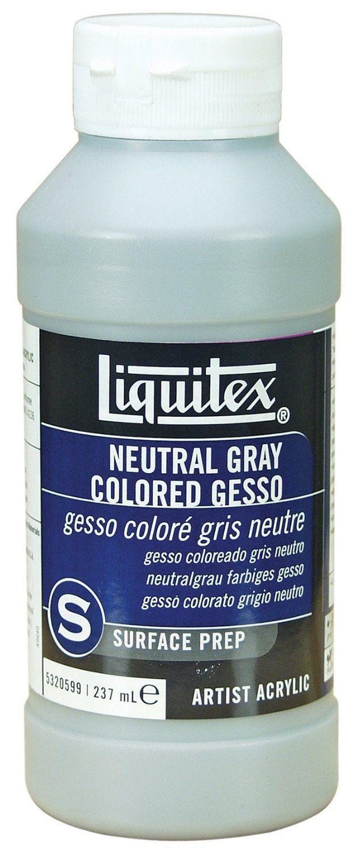 Liquitex Professional Neutral Gray Gesso Surface Prep Medium 8 Oz
