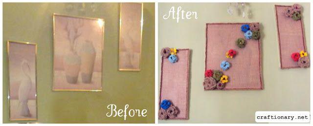 Burlap Home Wall Art Frames (Tutorial)