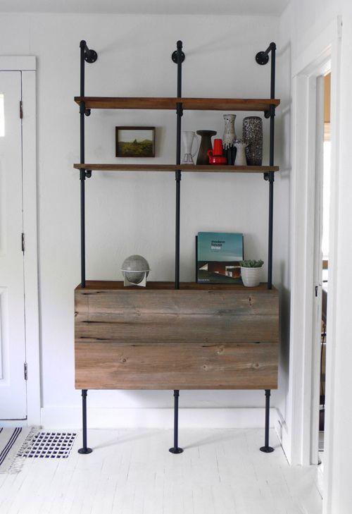 plumbing shelves...