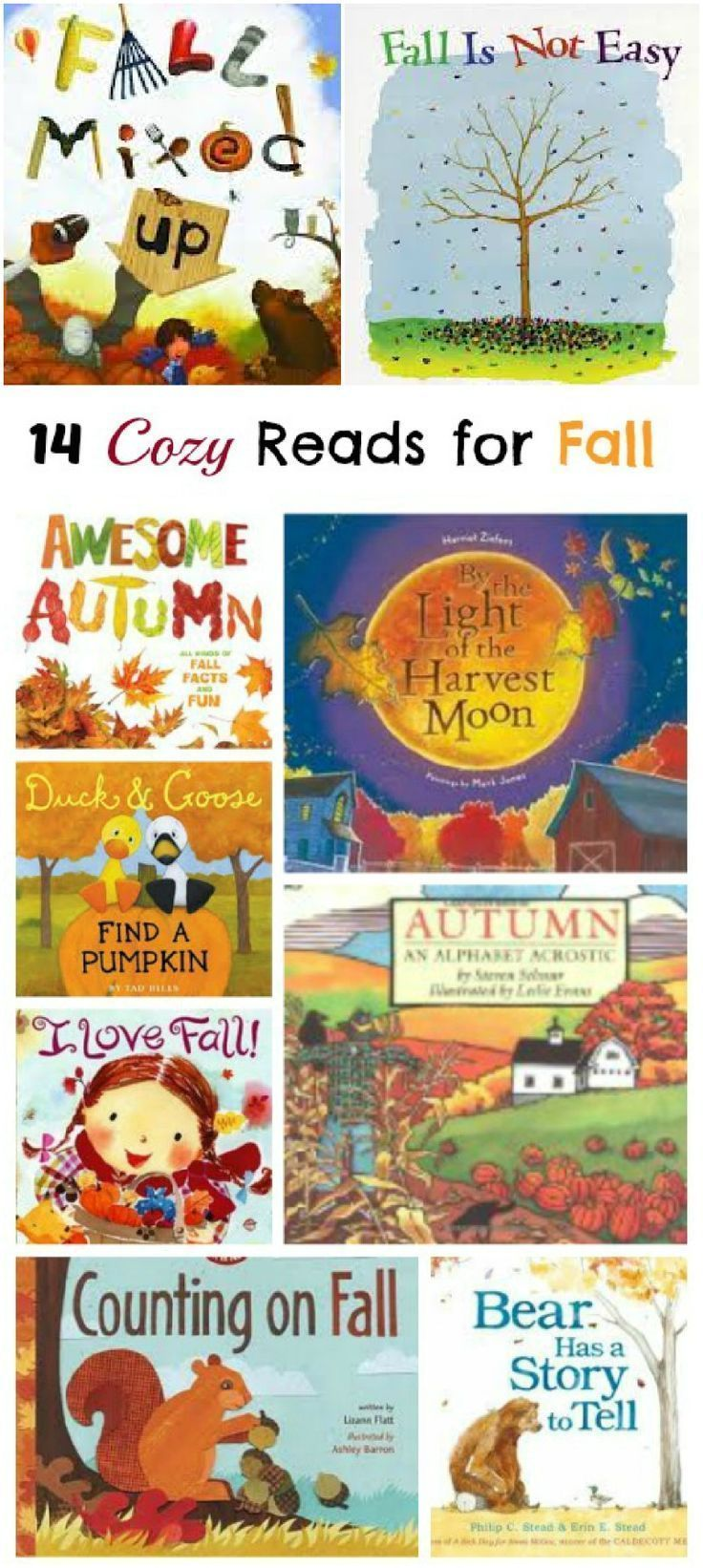 Cozy books for Autumn & Fall | picture books for kids - preschool, kindergarten, elementary
