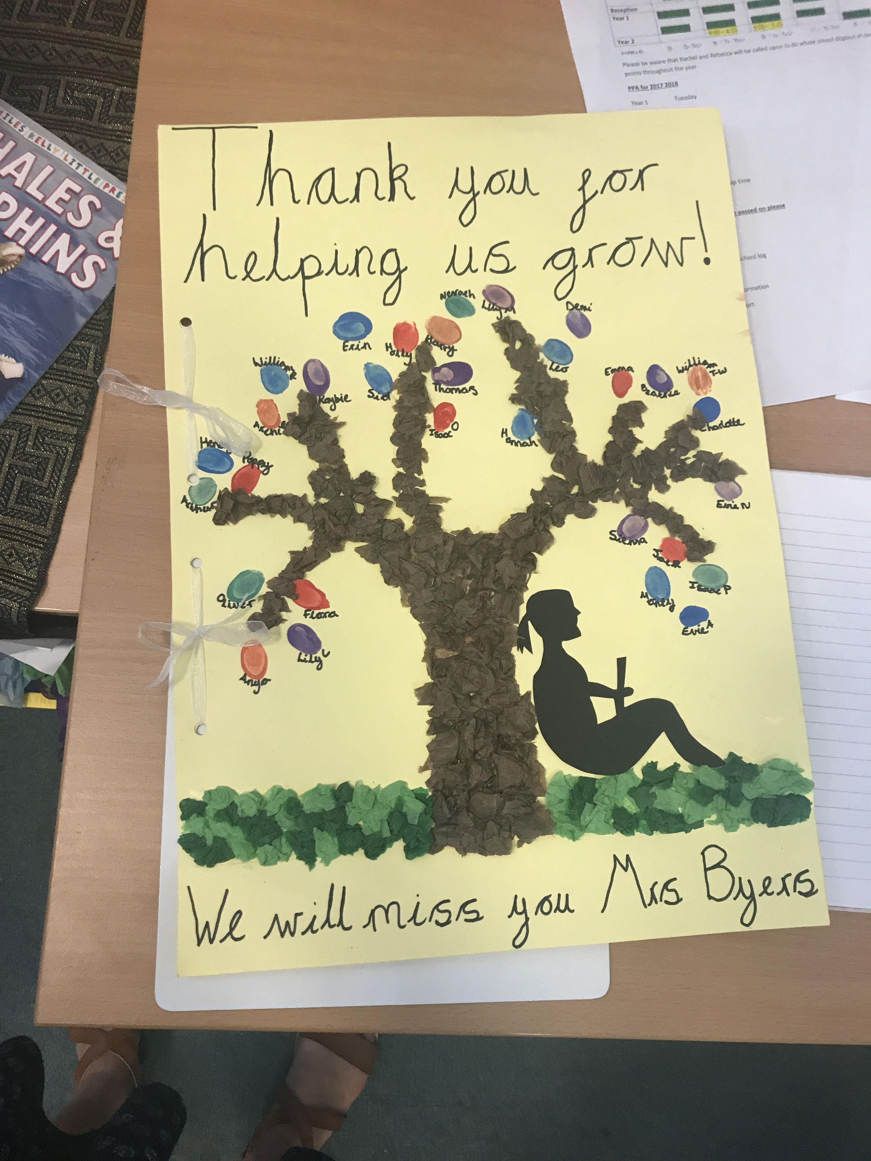 leaving card for teaching assistant  thank you cards