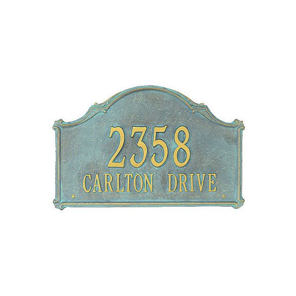 Frontgate Carlton Wall Plaque Bronze/Verdi, Estate, 1 Line (Number...  ($225) ❤ Liked On Polyvore Featuring Home, Outdoors, Outdoor Decor,  Mailboxes U0026 House ...