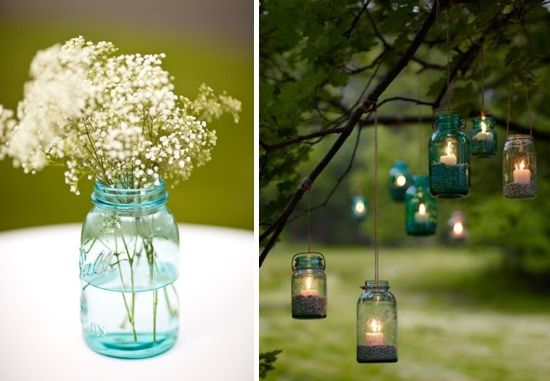 Glass Bottles For Decoration Recycled Glass Vessels  Wedding Country Weddings And Weddings