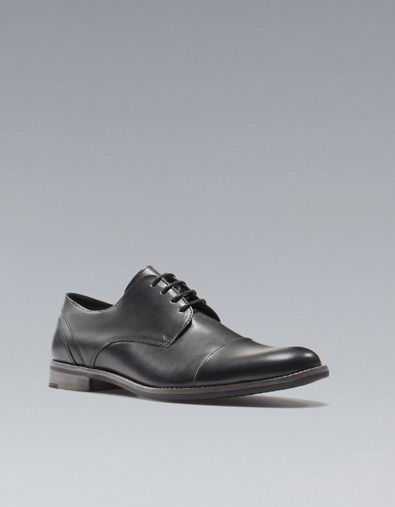 BLUCHER PUNTERA PIEL - Zapatos - Zapatos - Hombre - ZARA