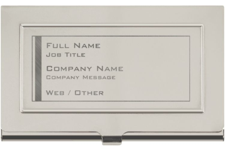 Engraved Metal Business Card Holders Metal Business Cards