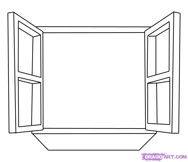 How To Draw A Window Step 5 Drawing Art Pinterest