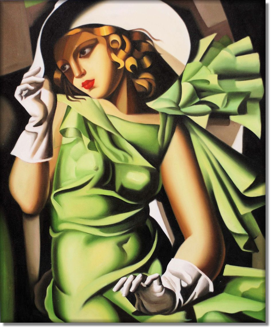 Tamara De Lempicka Young Lady With Gloves 1930 Art Deco Paintings Art Deco Posters Art Deco Fashion