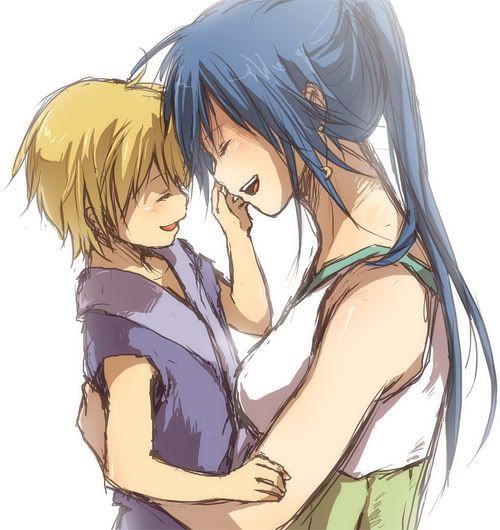 Спокойной, картинки мамы с сыном аниме