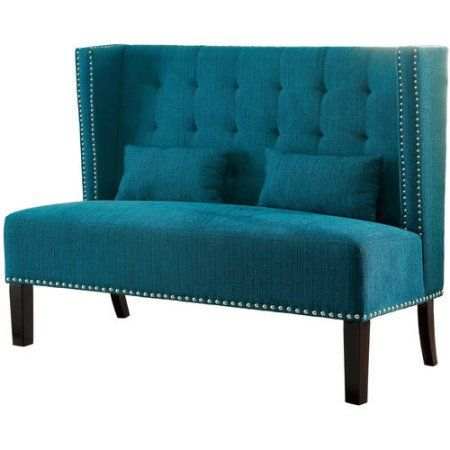 Furniture Of America Shipley Love Seat Bench, Multiple Colors, Blue