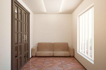 Sofa in clean room