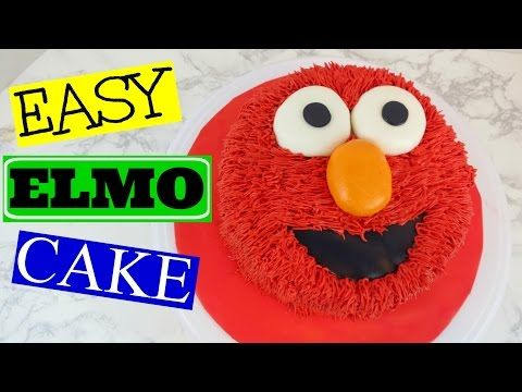 HOW TO MAKE AN EASY ELMO CAKE YouTube Cakes Pinterest Elmo