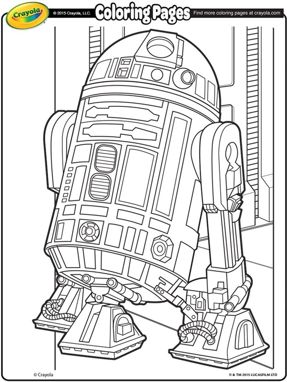 Star Wars R2d2 On Crayola Com Star Wars Coloring Book Star Wars Coloring Sheet Star Wars Colors