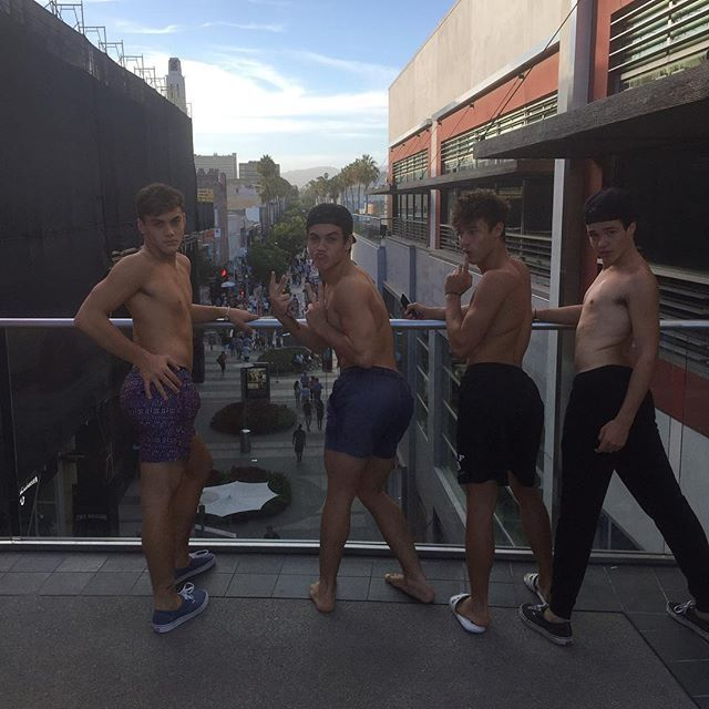 Grayson & Ethan with Cameron Dallas and Aaron Carpenter