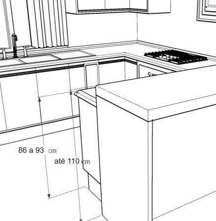 Todas las Medidas de una Cocina | Diseño | Planos de cocinas ...