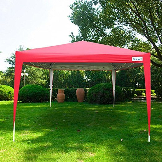 Amazon Com Quictent Silvox Waterproof 10x10 Ez Pop Up Canopy Commercial Gazebo Party Tent Camping Tent 8 7 Ft Height Red Porta Party Tent Canopy Canopy Tent