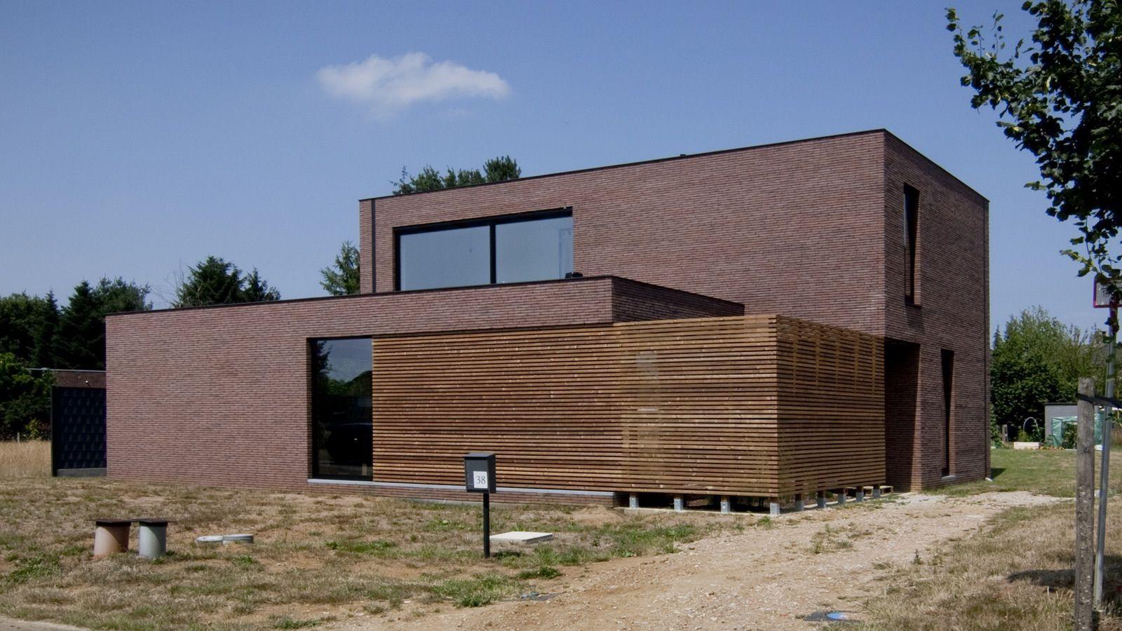 Block office architecten hedendaagse woning te paal strakke