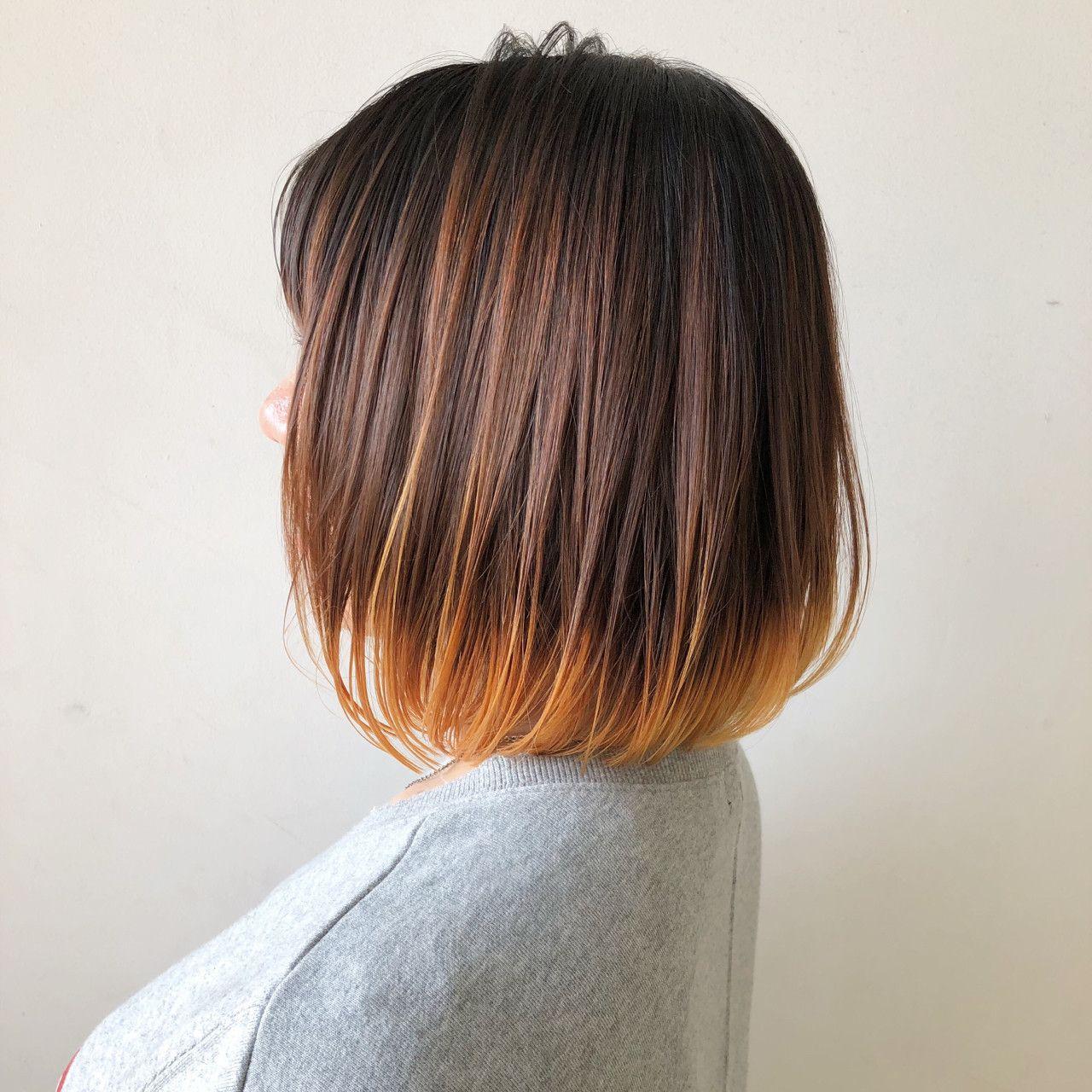 ストレートヘアに合うグラデーションカラーはコレ 短い髪のための