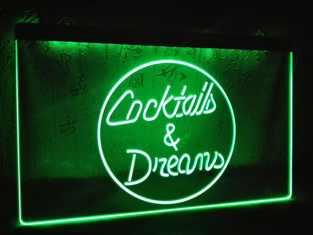 Cocktails and dreams led neon bar light sign home brew beer movie cocktails and dreams led neon bar light sign home brew beer movie tom cruise aloadofball Image collections