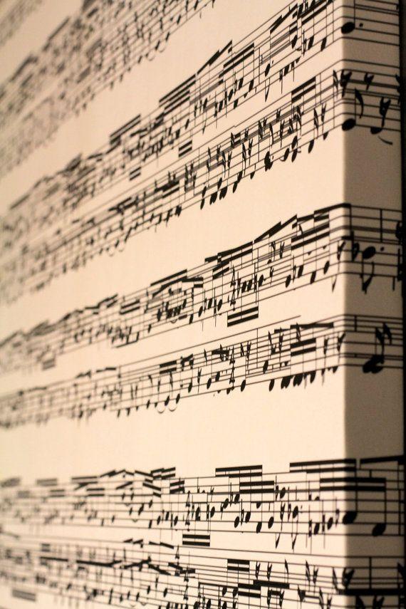 Sheet Music Wall Art music sheet canvas hanging wall art, great home decor item, gift