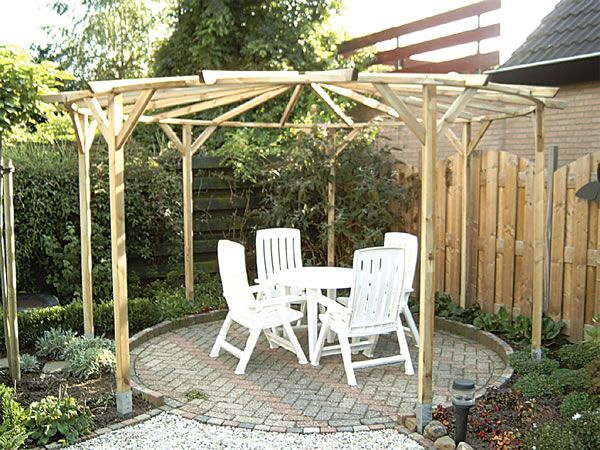 Circular pergola for the home pergola garden and
