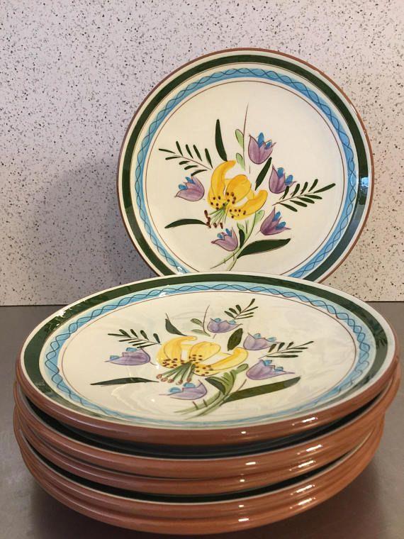 Stangl Pottery Vintage Dessert Plates Set of 6 Made in USA & Stangl Pottery Vintage Dessert Plates Set of 6 Made in USA | Vintage ...