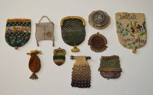 VCollection of 10 Antique Beaded Change Purses