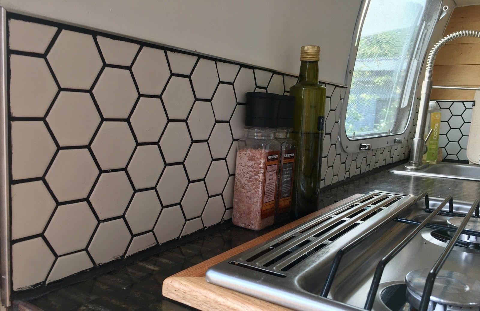 30+ Unique Backsplash Tile Decor Ideas for Camper Kitchen ...