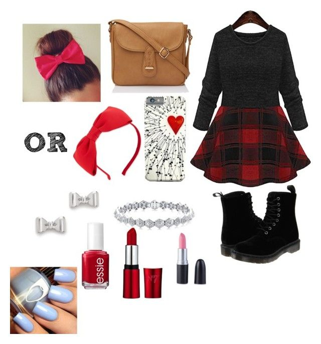 """Christmas/thanksgiving"" by cool-outfits ❤ liked on Polyvore featuring Dr. Martens, Kate Spade, Marc by Marc Jacobs, Essie, women's clothing, women, female, woman, misses and juniors"