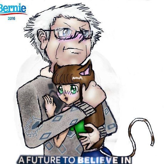 Bernie Sanders Hugging A Cat Girl By Handlebarorionx Cat Girl Hug Cats