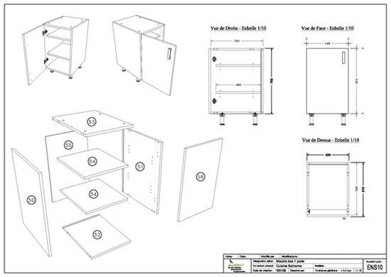 impressionnant plan de meuble de cuisine d coration. Black Bedroom Furniture Sets. Home Design Ideas