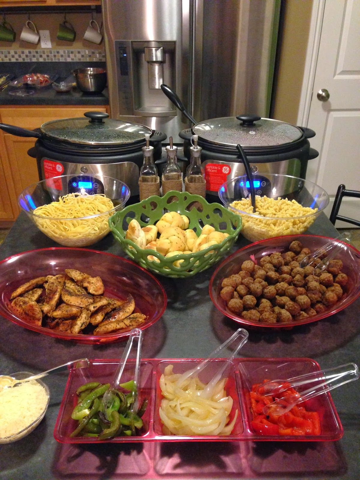 Ordinary Buffet Style Dinner Party Menu Ideas Part - 9: Little Baby Edmonds: Create Your Own Pasta Bar (appreciation Dinner)
