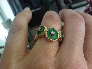 enamel and diamond ring.