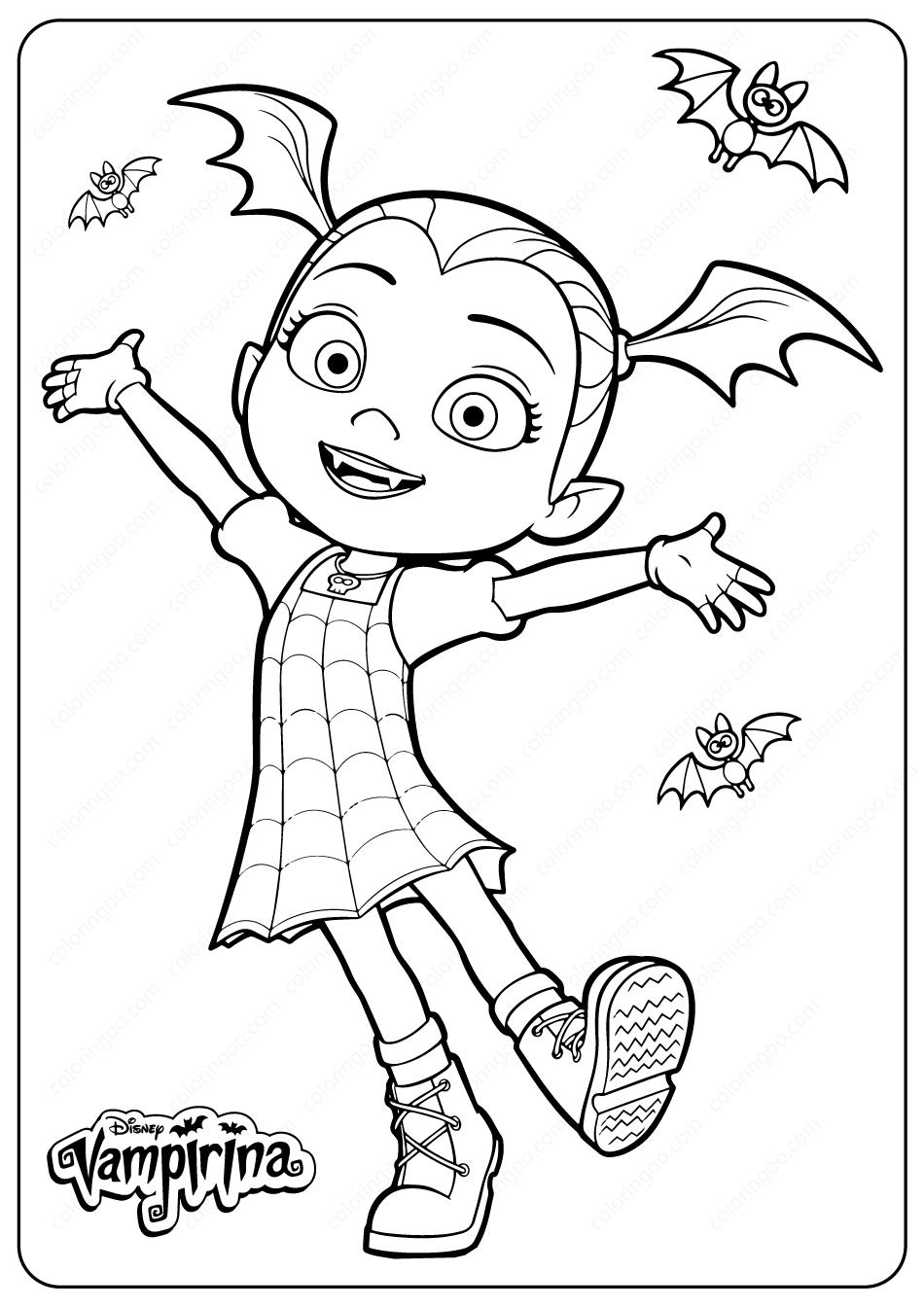Vampirina Coloring Pages Vampirina And Wolfie Free Printable Cartoon Coloring Pages Coloring Pages Printable Flower Coloring Pages