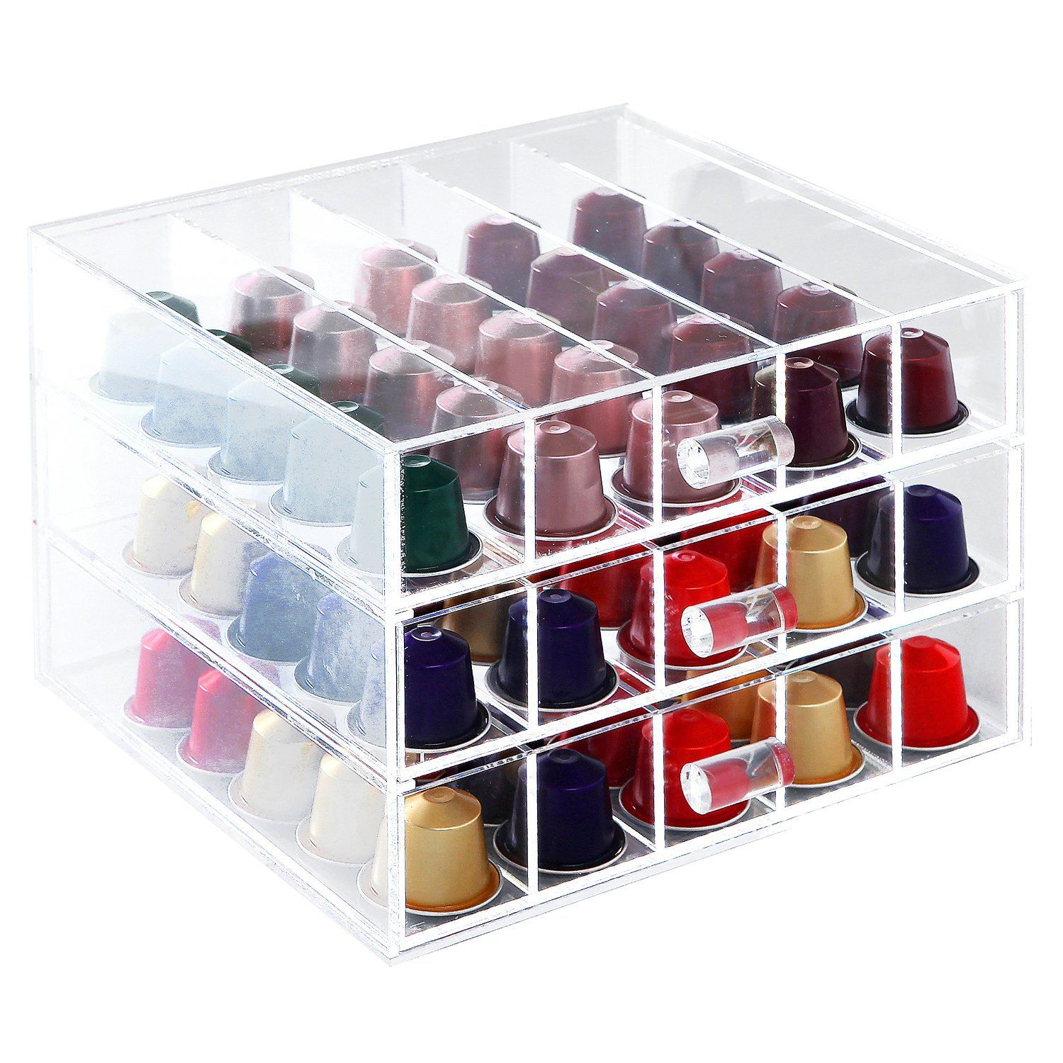 MyGift® Deluxe Clear Acrylic 75 Nespresso