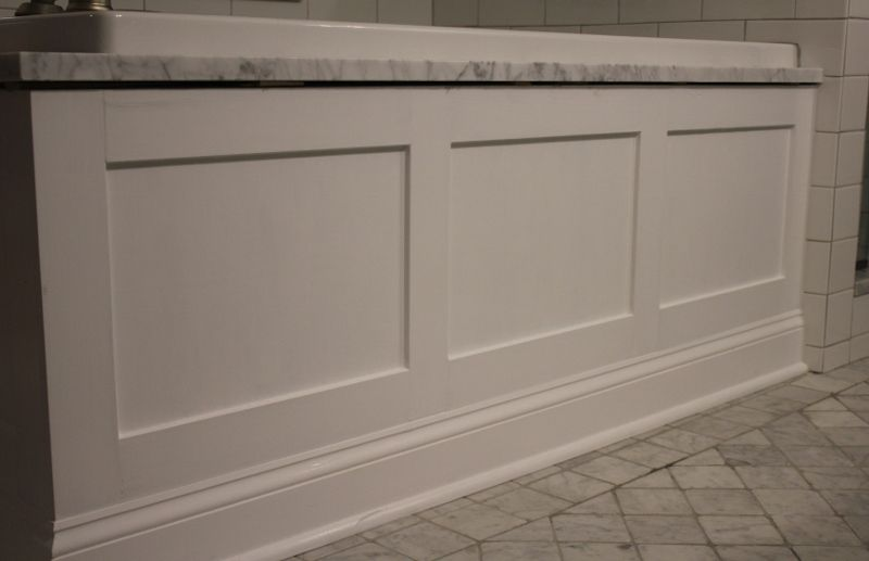 White paneled tub apron/ skirt   Bathroom Remodel   Pinterest   Tubs ...
