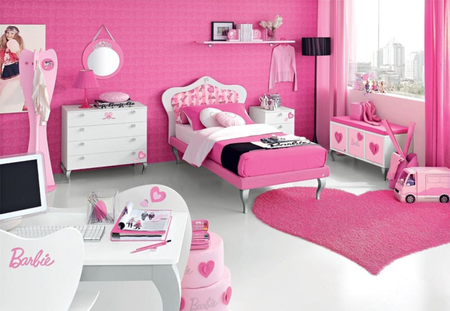 1000 images about Girl bedroom ideas on Pinterest. Pink Bedrooms For Girls