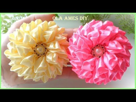 Ola ameS DIY - YouTube #ribbonflower