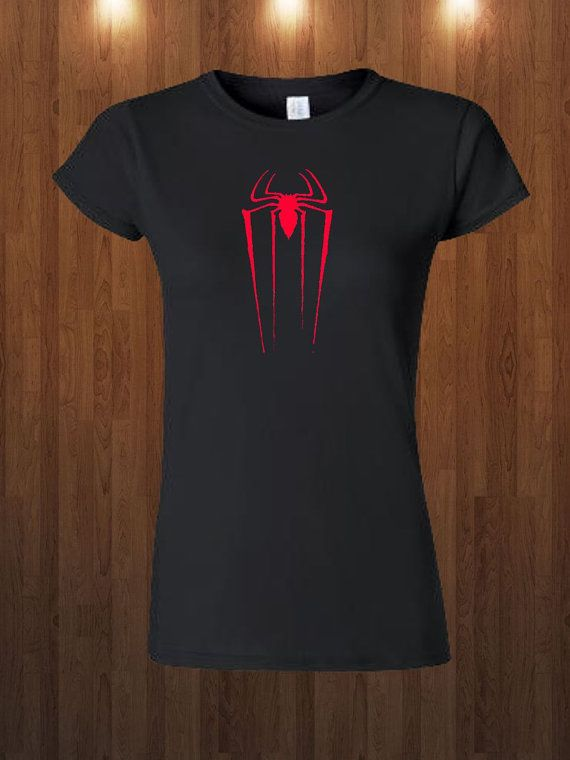 Cool Spider-Man Shirt Womens The Amazing Spider Man Tee Logo Gift Idea Tee Shirt Sizes S-XL 5 Color Choices, $13.99